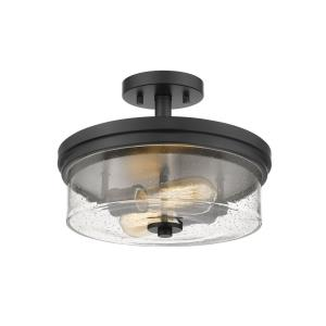 Bohin - 2 Light Semi-Flush Mount in Art Moderne Style - 13 Inches Wide by 9.75 Inches High